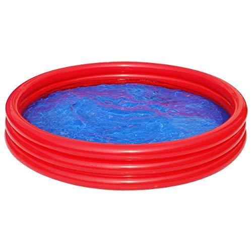 Best Sporting aufblasbarer Pool 'Uni' Planschbecken, 99 x 23 cm und 157 x 25 cm, Farbe rot und gelb (rot, 150 cm)