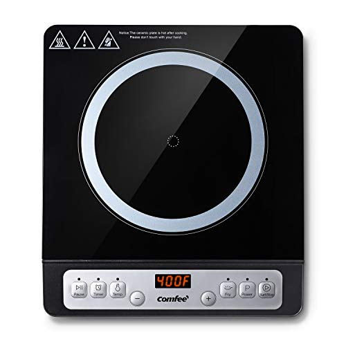 COMFEE' 1800W Digital Electric Portable Induction Cooktop Countertop...