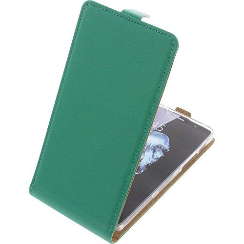 foto-kontor Tasche für Alcatel Flash Plus 2 Smartphone Flipstyle Schutz Hülle grün