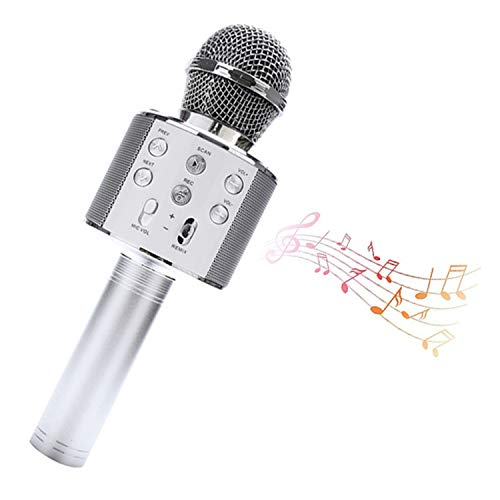 LLDMZ Micrófono inalámbrico USB profesional para karaoke micrófono Bluetooth con función de altavoz y grabación