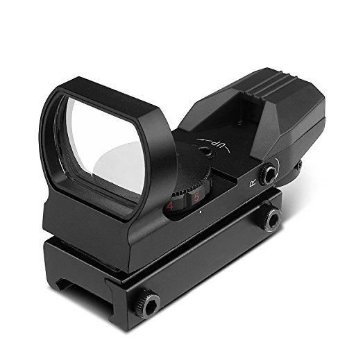 Flexzion Beileshi Reflexvisier Rot/Grün-Punkt-Sightmark Tactical Holographic Picatinny Schiene Reflex Optik - Jagd Paintball-Werkzeug für Shotgun-Gewehr-Pistole-Bereich mit Verriegelungsschraube &