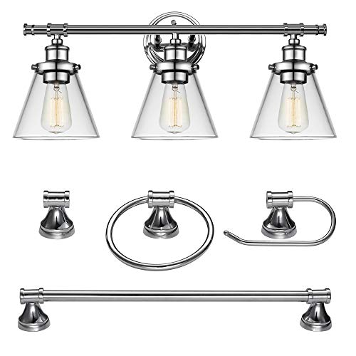Globe Electric 51234 Parker vanity light, 3 Bath Set, Chrome