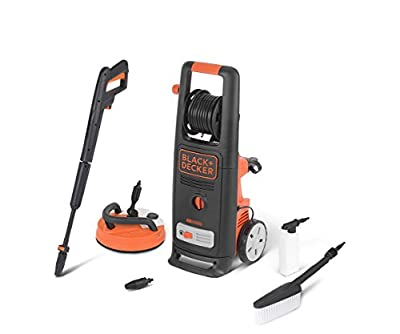 Black+Decker BXPW2000PE High Pressure Washer (2000 W, 140 bar, 440 l/h) with Patio Cleaner Deluxe and Fixed Brush from Annovi Reverberi S.p.A.
