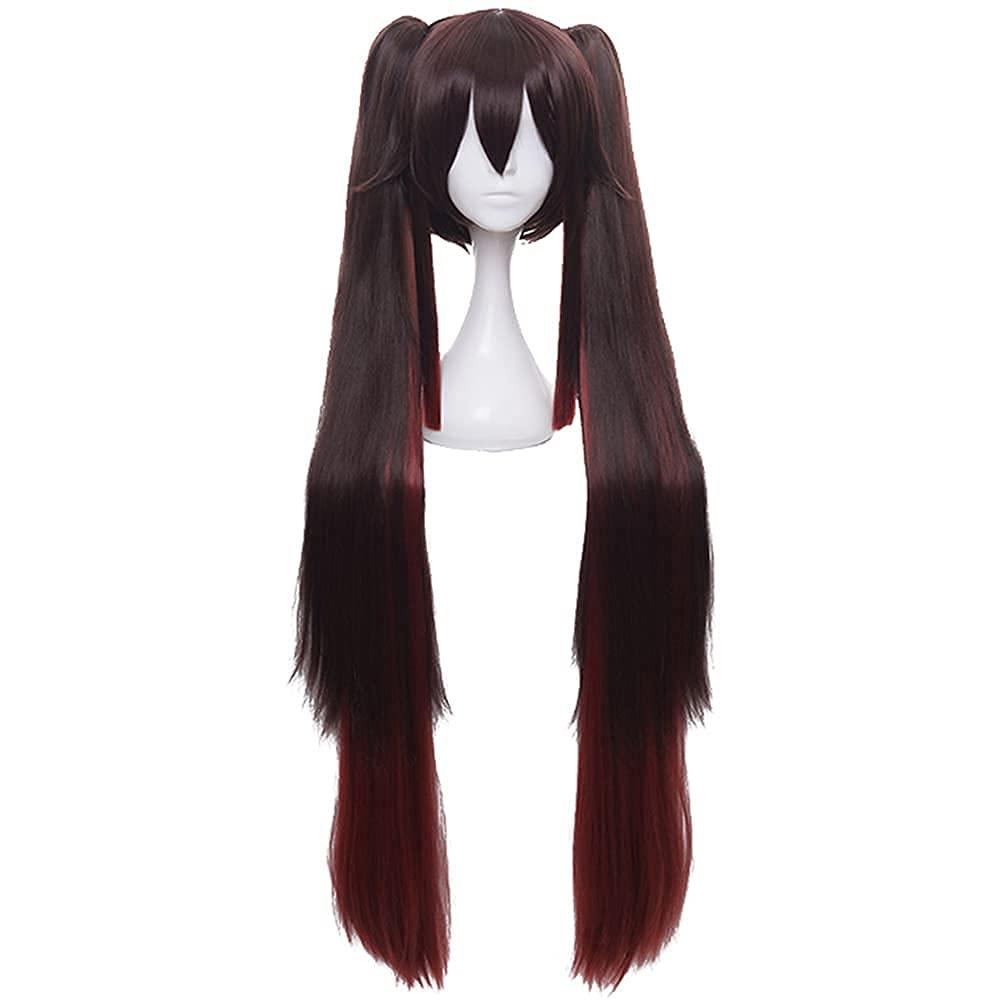 DAZCOS Hu Tao half Cosplay Wig New life Costume Genshin Impact color1 for