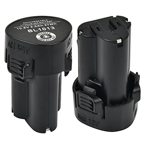 YOPEUC 2 uds 2500mAh Batería de Repuesto 10.8 V Iones de Litio para Makita BL1013 BL1014 194550-6 194551-4 DF030D DF330D TD090D
