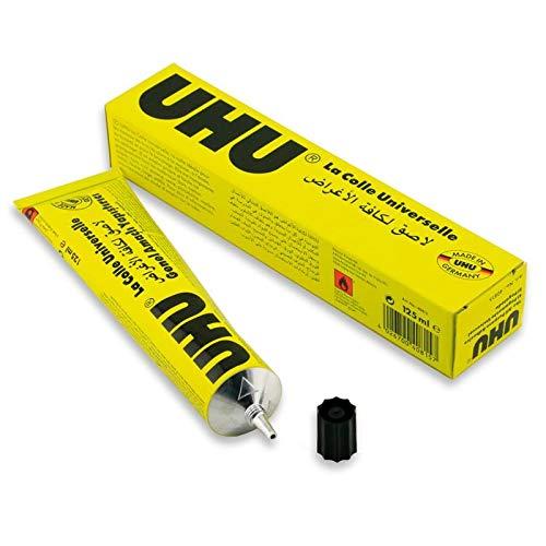 UHU All Purpose Adhesive Glue 125ml Boxed [Pack of 2 Tubes]