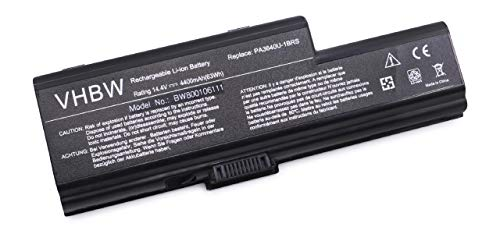 vhbw Akku 4400mAh (14.4V) für Notebook Laptop Toshiba Qosmio F50, 01U, 1, -108, 10B, 10G, 10K, 10M, 10Z, -111, -113, 11E, 11I, 11J, 11K