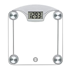 Review For Ww Scales By Conair Digital Glass Weight Scale With Contemporary Silver Finish Bathroom Scale 400 Lbs Capacity