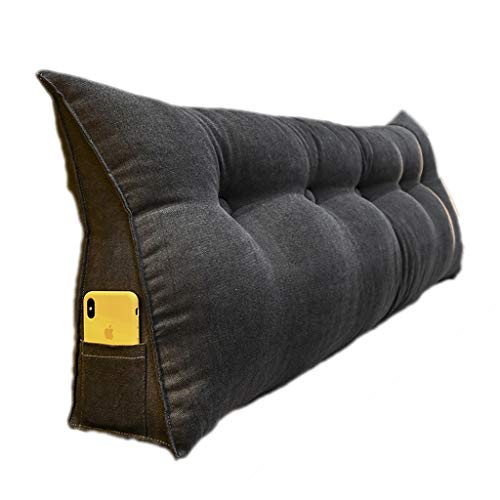 Grande Cuscino per Schienale per testiera, bay Window Long Pillow Cuscino Triangolare da Lettura Schienale per Divano Letto con Rivestimento Lavabile (Color : Light Grey, Size : 200cm)