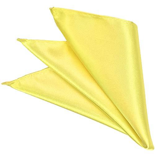 フレスデザイン ポケットチーフ 日本製 サテン 無地 メンズ 結婚式 パーティ フォーマル ビジネス イエロー 黄