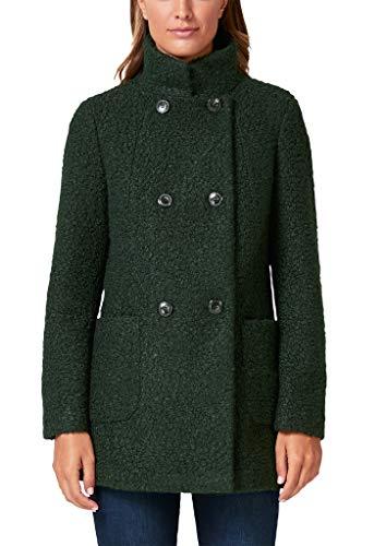 s.Oliver BLACK LABEL Damen Eleganter Bouclé-Mantel Forest Green 46