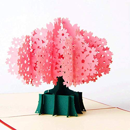 Paper Spiritz Cherry Blossom Pop Up Card, Anniversary Card, 3D Greeting Card, Pop Up Card for Wife Mom Girlfriend, Pop Up Birthday Card, Mother�s Day Card, Gift Card, All Occasion