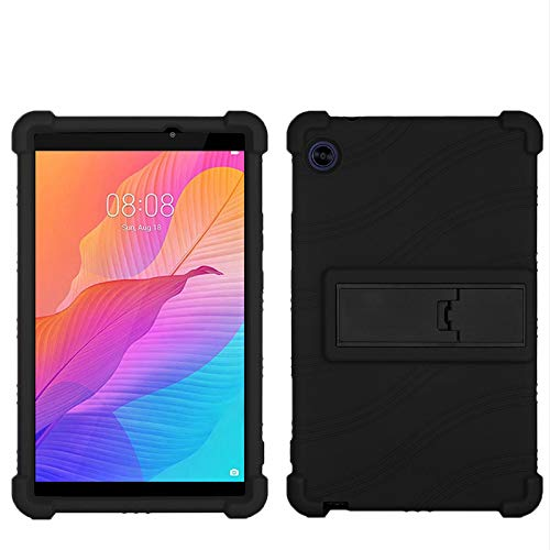 QYiD Case for Lenovo Tab 4 8 Plus, Light Weight Silicone Kids Friendly Soft Shock Proof Protective Cover Case for Lenovo Tab 4 8' Plus (TB-8704), Black