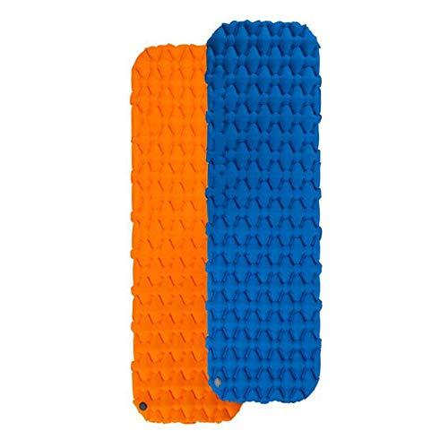 Herramientas de camping TPU Ultraligero Compacto Al aire libre Espuma gruesa Estera del sueño Colchón de aire Azul naranja Plegable para una sola persona Autoinflable Almohadillas para dormir
