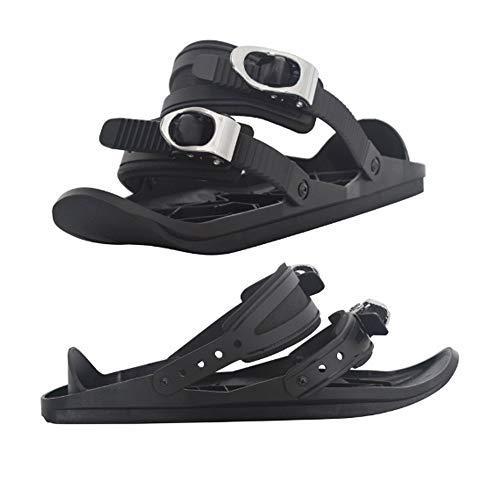 CLHCilihu Tragbare Mini-Snowboard Adjustable Ski-Schlitten Skischuhe Combine Schlittschuhe Outdoor-Ski-Schuh Wintersportausrüstung für Männer Frauen für...