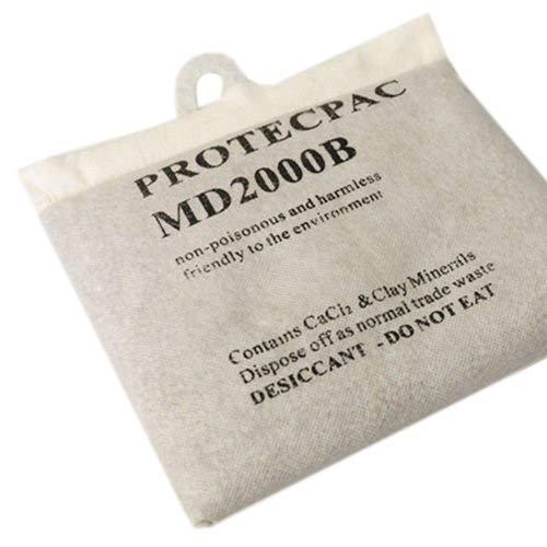 EYEPOWER Sacchetto Deumidificatore Riutilizzabile Senza Ricarica 2 kg | assorbe umidità | essiccatore a granuli inodore | sali di cloruro di Calcio essiccante | bustina Anti Umido
