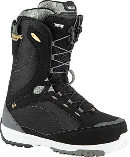Nitro Damen Monarch TLS Boot´21 Snowboardboot, Black-White- Grey, 255