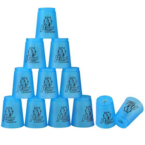 Quick Stack Cups, 12 Pack (Blue)