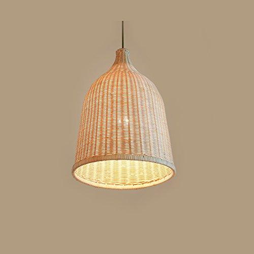 TING- Lámpara de cabeza única de estilo japonés Creative Grass Lámpara de ratán Lámpara Estudio de la personalidad Dormitorio Restaurante Salón Café Tema Iluminación decorativa