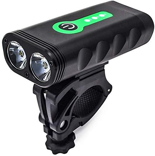 ZOUSHUAIDEDIAN USB Recargable luz de la Bici, Tres Modos de luz, Resistente al Agua IP67 - Se Adapta a Todas Las Bicicletas con Dos Opciones de Montaje, Bicicleta Linterna LED, Faros Ciclismo