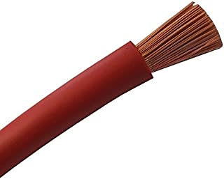 Batteriekabel Aderleitung ROT H07V K 6/10 / 16/25 / 35 oder 50 mm²  Batterie Kabel   OFC 100% Kupfer   Schnitt   Meterware nach Ihren Wünschen   6mm2 10mm2 16mm2 25mm2 35mm2 50mm2