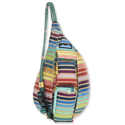 KAVU Mini Rope Sling Bag Polyester Crossbody Backpack - Summer Stripe