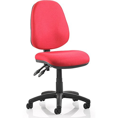Dynamic Luna II Lever Task Operator Chair without Arms - Burgundy by Dynamic