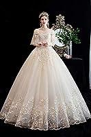 ウェディングドレス 2020 シャンパン ブライド プリンセス シンプル フレンチ ハイエンド 花嫁ワンピース フォーマルドレス 華麗 イブニングドレス 結婚パーティードレ披露宴結婚式 フォーマルドレス 花嫁