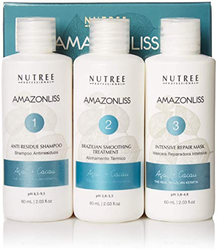 Amazonliss Keratin Smoothing Treatment Hair Straightening - Natural Ingredients - Smooths,...