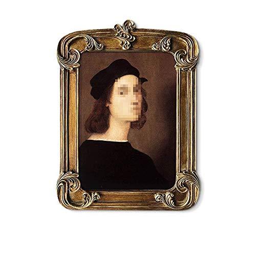 Vintage Picture Frame tafelblad en Wall Opknoping fotolijst met glazen pui for Decor van het Huis (Color : Gold, Size : 27x38cm)