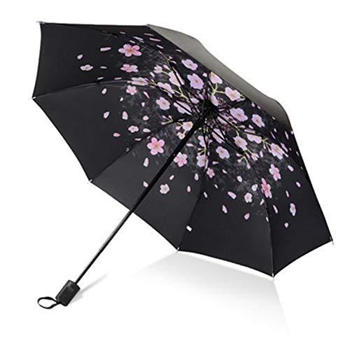 NOLOGO Sonnenschirm, Sonnenschirm, Regen und UV-Schutz kann Regenschirm Werbegeschenke gefaltet Werden Hohe Windwiderstand (Color : Branch, Size : 58cm*8k)