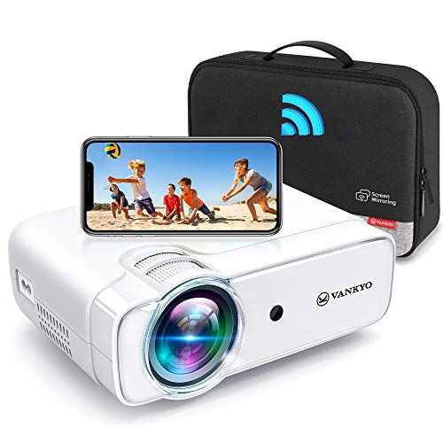 """VANKYO Leisure 430W Pro WiFi Mini Projector [2021 Upgraded], HD 1080P and 236"""" Supported, Portable Wireless Mirroring Projector, Compatible w/ TV Stick/iOS/Android/PS5/PC for Home"""