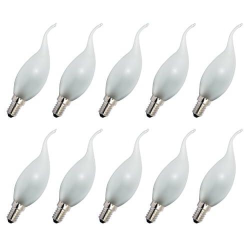 10 lampadine a incandescenza con forma di fiamma al vento E14, 40 W, opache, 230 V