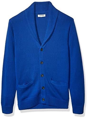 Amazon Brand - Goodthreads Men's Soft Cotton Shawl Cardigan, Bright Blue X-Large