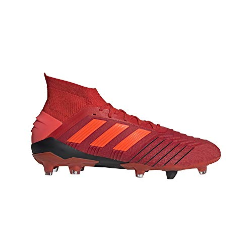 adidas Predator 19.1 FG Soccer Cleats (Men's), 9.0 D(M) US, Active Red/Solar Red/Core Black