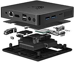 BMAX ミニPC、インテル Celeron プロセッサ Windows10 Home搭載 小型PC 4GBメモリー+64GB HDグラフィックスミニパソコン、4K UHD、2.4G / 5.0G WiFi、Bluetooth 4.2搭載、ブラック