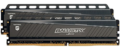 Ballistix Tactical BLT2K4G4D30AETA 8GB (4GB x2) Speicher Kit (DDR4, 3000 MT/s, PC4-24000, Single Rank x8, DIMM, 288-Pin)