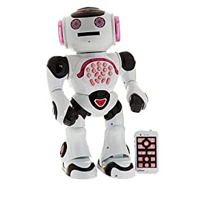LEXiBOOK Powergirl - Smart Interactive Robot for Kids to Learn and Play - Dances, Plays Music, Educational Quiz, Tells Stories, Throws Discs, Pink/White - ROB50GEN - 41RLOt7wD7L - LEXiBOOK Powergirl – Smart Interactive Robot for Kids to Learn and Play – Dances, Plays Music, Educational Quiz, Tells…