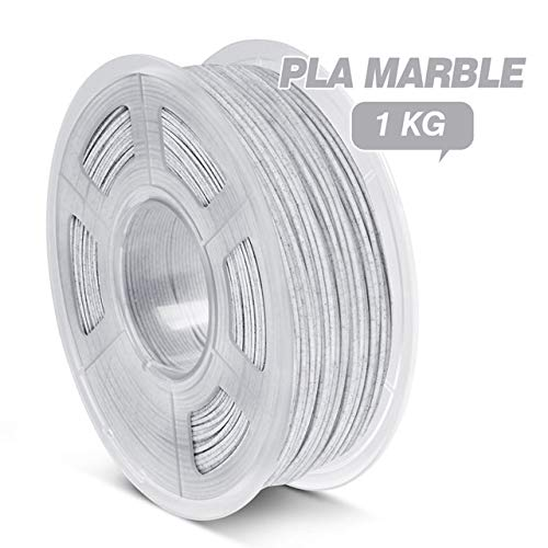 ZHANGDONG Excellent quality PLA Filament 1.75mm 1kg Plastic PLA 3D Printing Material For 3D Printer Silk Rainbow Filament Reasonable price (Color : PLA Marble)