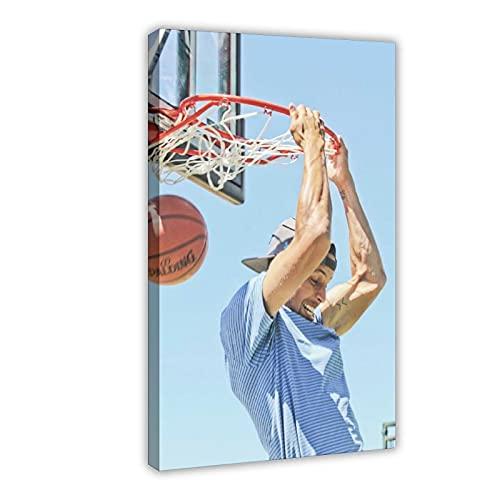Stephen Curry - Póster de baloncesto americano con 5 carteles de lona para decoración de dormitorio, paisaje, oficina, habitación, marco de regalo, 50 x 75 cm