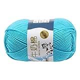 Janly Clearance Sale Tejer lana, bufanda hecha a mano, suéter, abrigo, barra de aguja, hilo de hilo para bebé, lana de algodón, para el hogar DIY Crochet textiles para matar tiempo y pasatiempos (F)