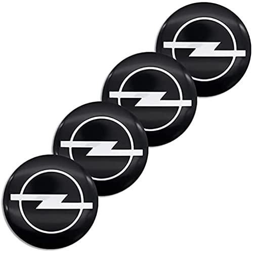 4Pcs Car Tapacubos, para Opel Corsa e Ampera Astra Insignia 56mm Hub Centre Caps Center Emblem Wheel Cubiertas llanta Insignia Pegatina Decoración, Auto Estilo Accesorios