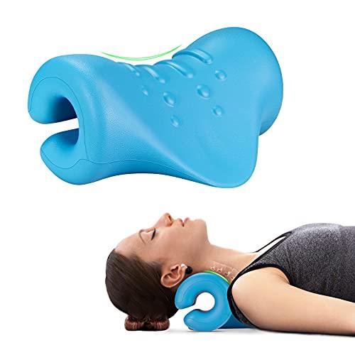 ASDFGB Massagegerät Nacken Schulter Massagekissen Nackenmassagegerä Chiropraktik Kissen Zervikales Traktionsgerät für Nacken Schulter Relaxer Rückenschmerzen Linderung