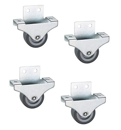 Gedotec Parketbokrol voor kasten, meubels voor kratten, rol voor zware belasting, voor tafels | met glijlagers | 4 stuks