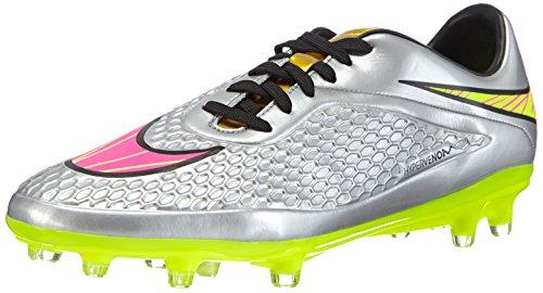 Nike - Hypervenom Phelon Premium FG, Scarpe da Calcio da Uomo, Grigio (Chrome/Hyper Pink-Mtlc Gld CN), 42.5
