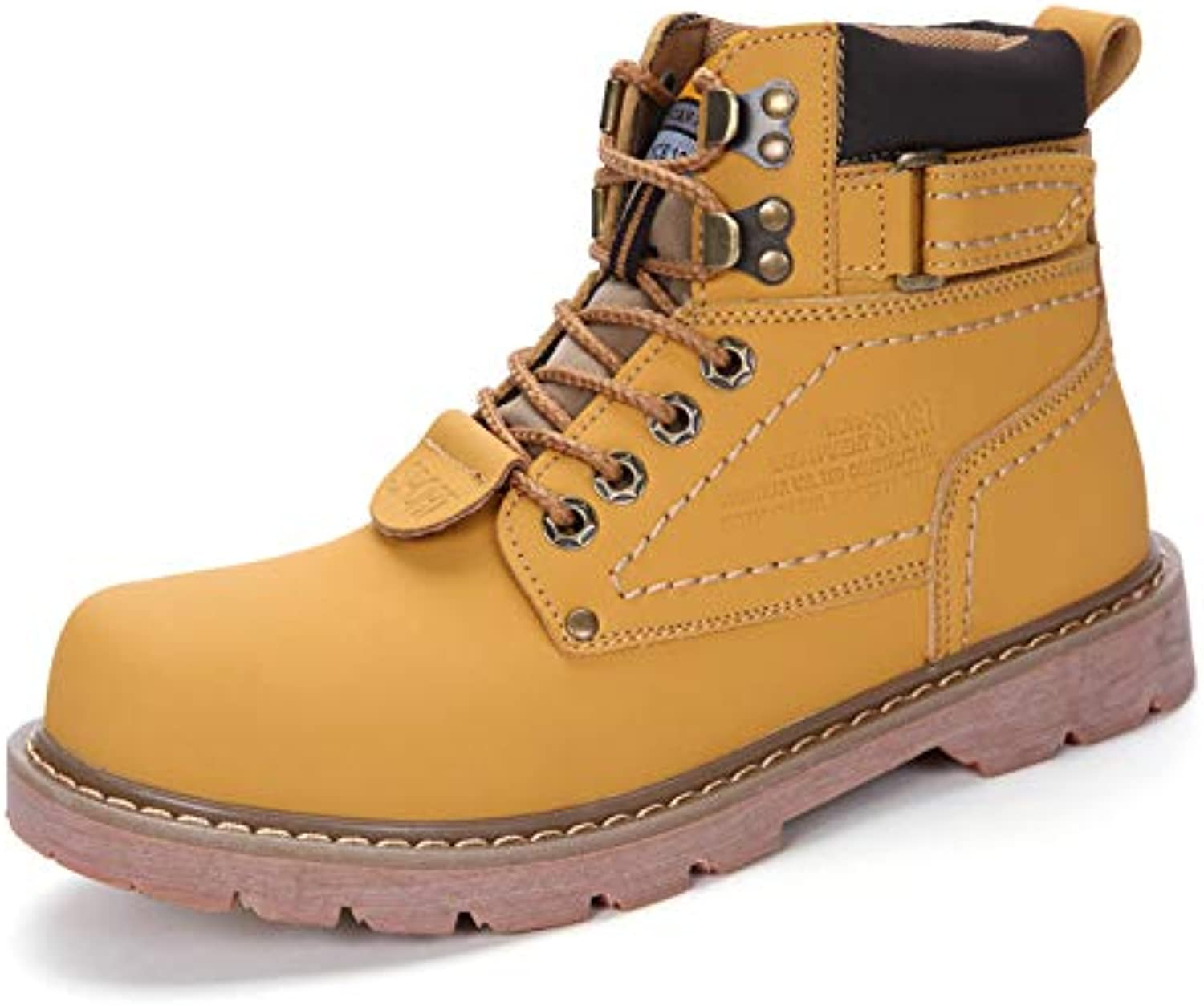 LOVDRAM Boots Men's Pu Men'S Boots Martin Boots Men'S Mid Men'S shoes Autumn Martin shoes Couple Snow Workwear Boots