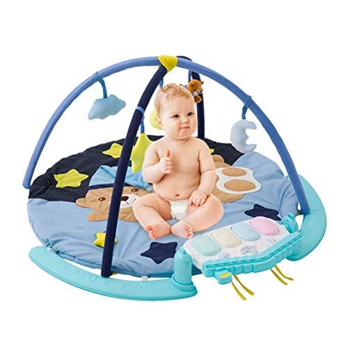 CarPET ZI Ling Shop- ☺Cadre de Remise en Forme pour bébé Jouet pour bébé à Tapis Rond Pédale Piano Nouveau-né avec Couverture de Jeu de Musique (90x90x50cm)