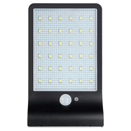 Buitenverlichting wandlamp bewegingsmelder met zonne-energie wandlamp inductie menselijk lichaam met 36 leds / zwart