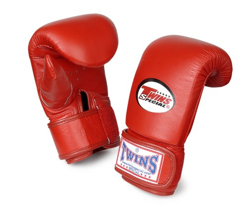 Twins Special Training Bag Gloves Full Thumb (Red) (XL)