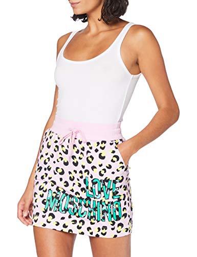 Love Moschino Skirt_Allover Animalier Prints Falda, Multicolor (P.Leopard/Pink 0015), 42 (Talla del...